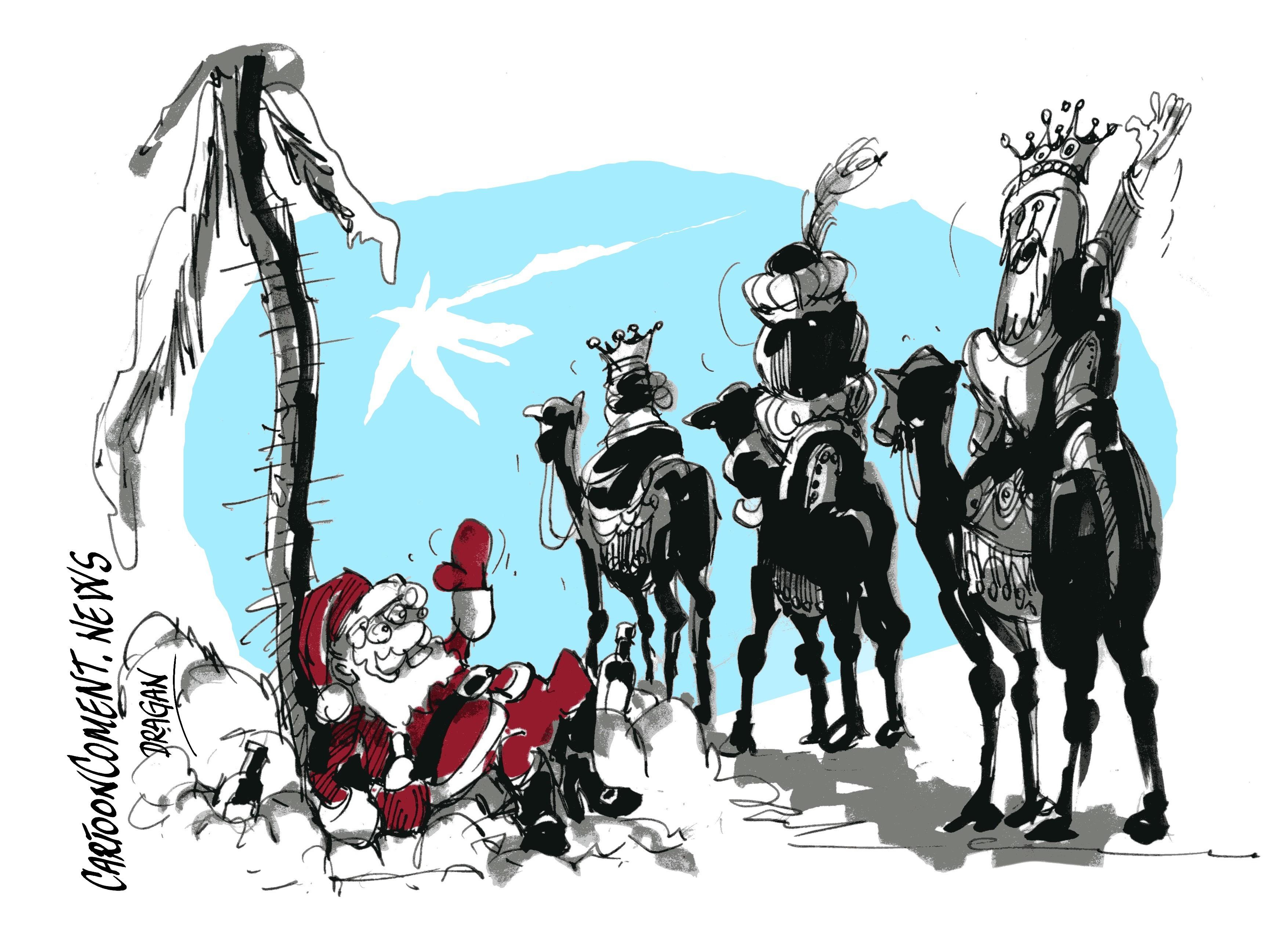 Fotos Papa Noel Reyes Magos.Los Reyes Magos Toman El Relevo Cartooncoment News