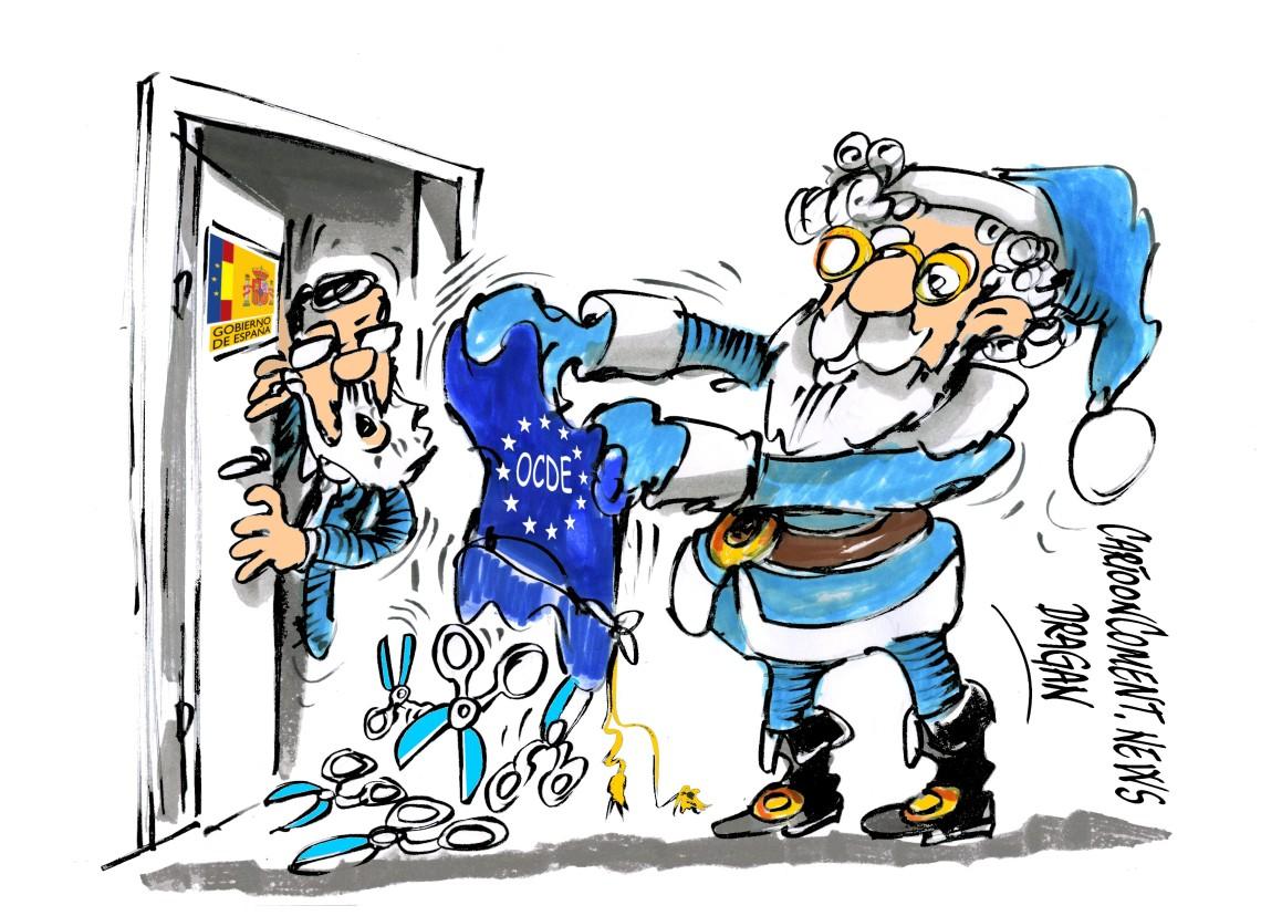 """Mariano Rajoy-OCDE-""""Papa Noel"""""""