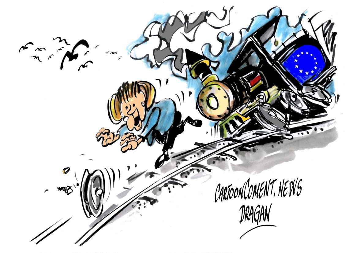 """Angela Merkel-""""locomotora europea"""""""