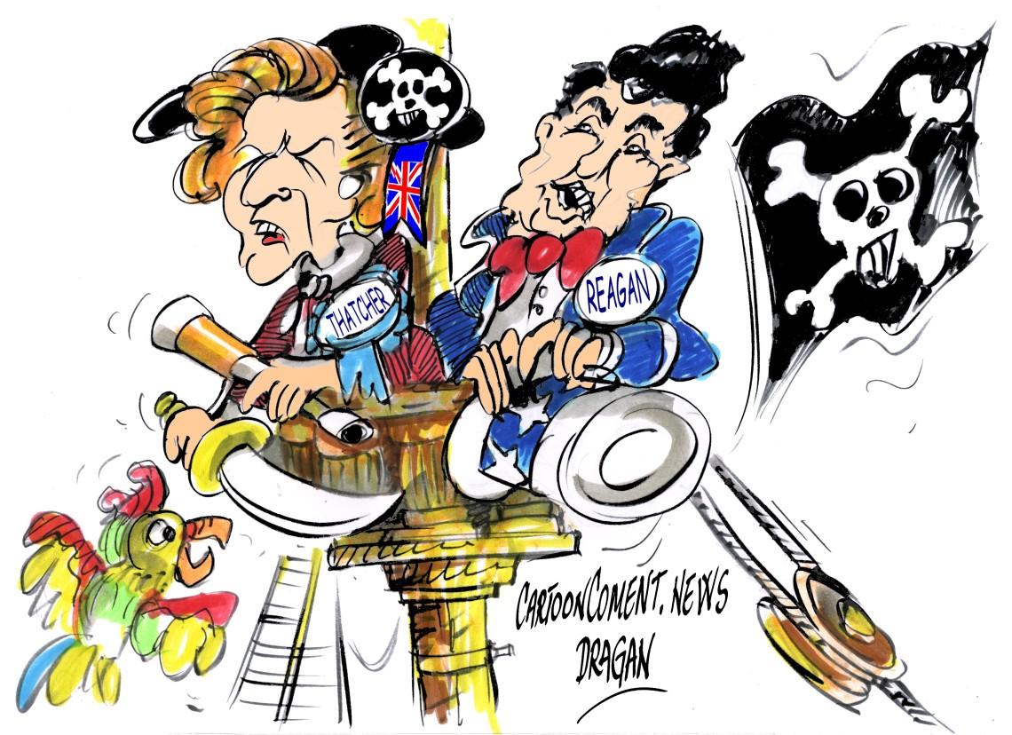 "Margaret Thatcher-Ronald Reagan-""Gibraltar y Malvinas"""