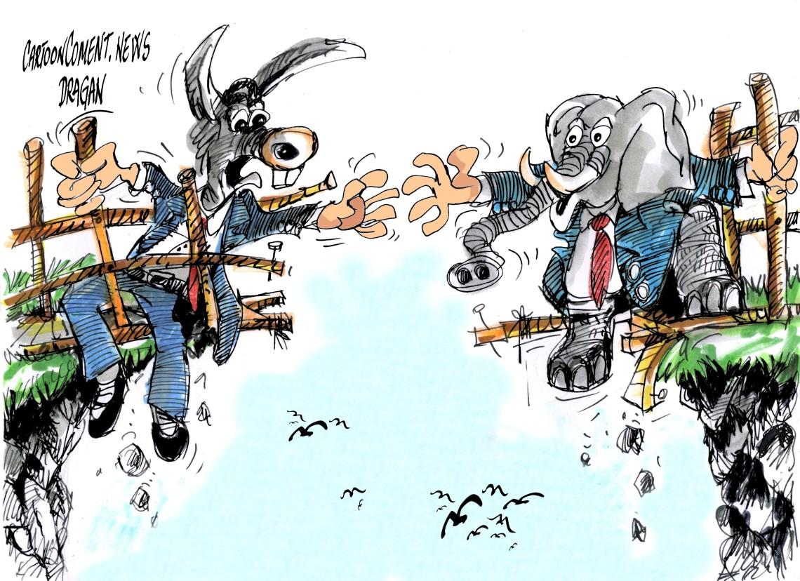 """republicanos y demócratas-""""acercando posiciones"""""""