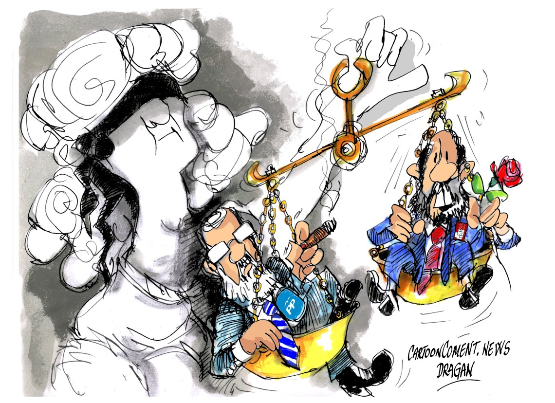 "Alfredo Pérez Rubalcaba-Maroano Rajoy-""Justicia"""