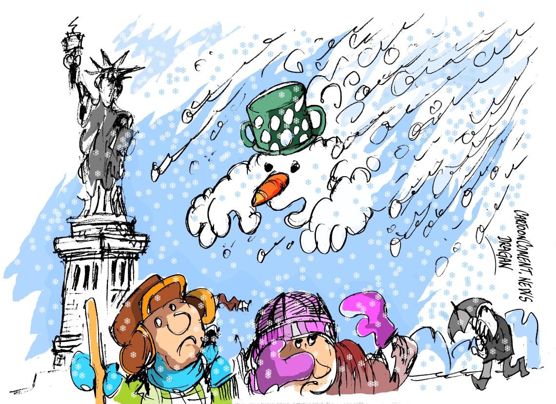 """Nueva York-"""" temporal de nieve"""""""
