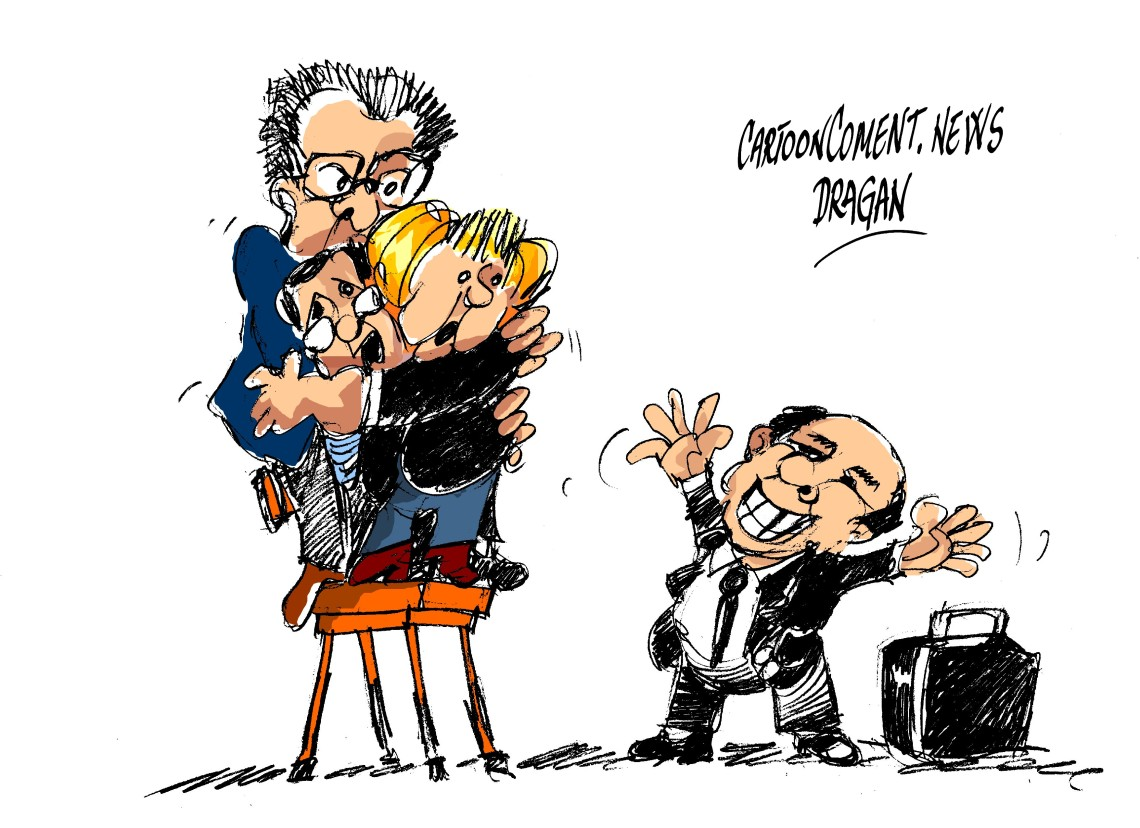"Berlusconi-Mercel-Monti-Hollande-""miedo"""