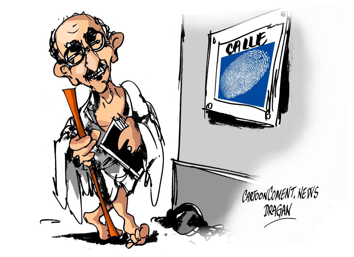 """Mahatma Gandhi- """"difícil de escribir"""""""