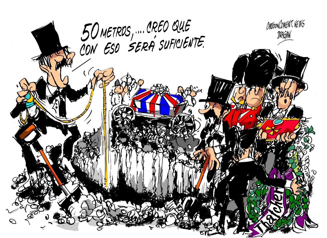 """funeral político-""""Dama de Hierro"""""""