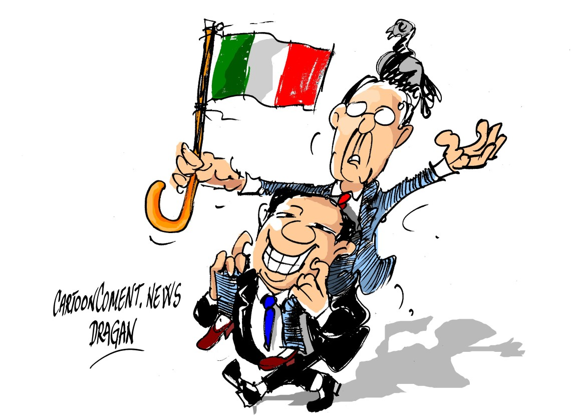 """Giorgio Napolitano-Silvio Berlusconi-""""Piazza Venezia"""""""