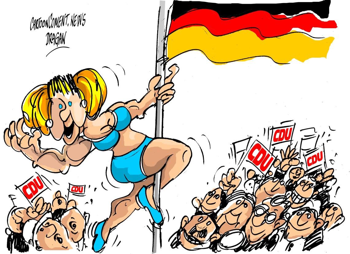 "Angela Merkel-""barra de baile"""