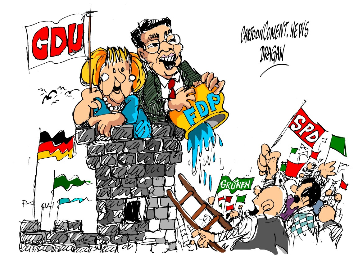 "Angela Merkel-Philipp Rösler-""lucha"""