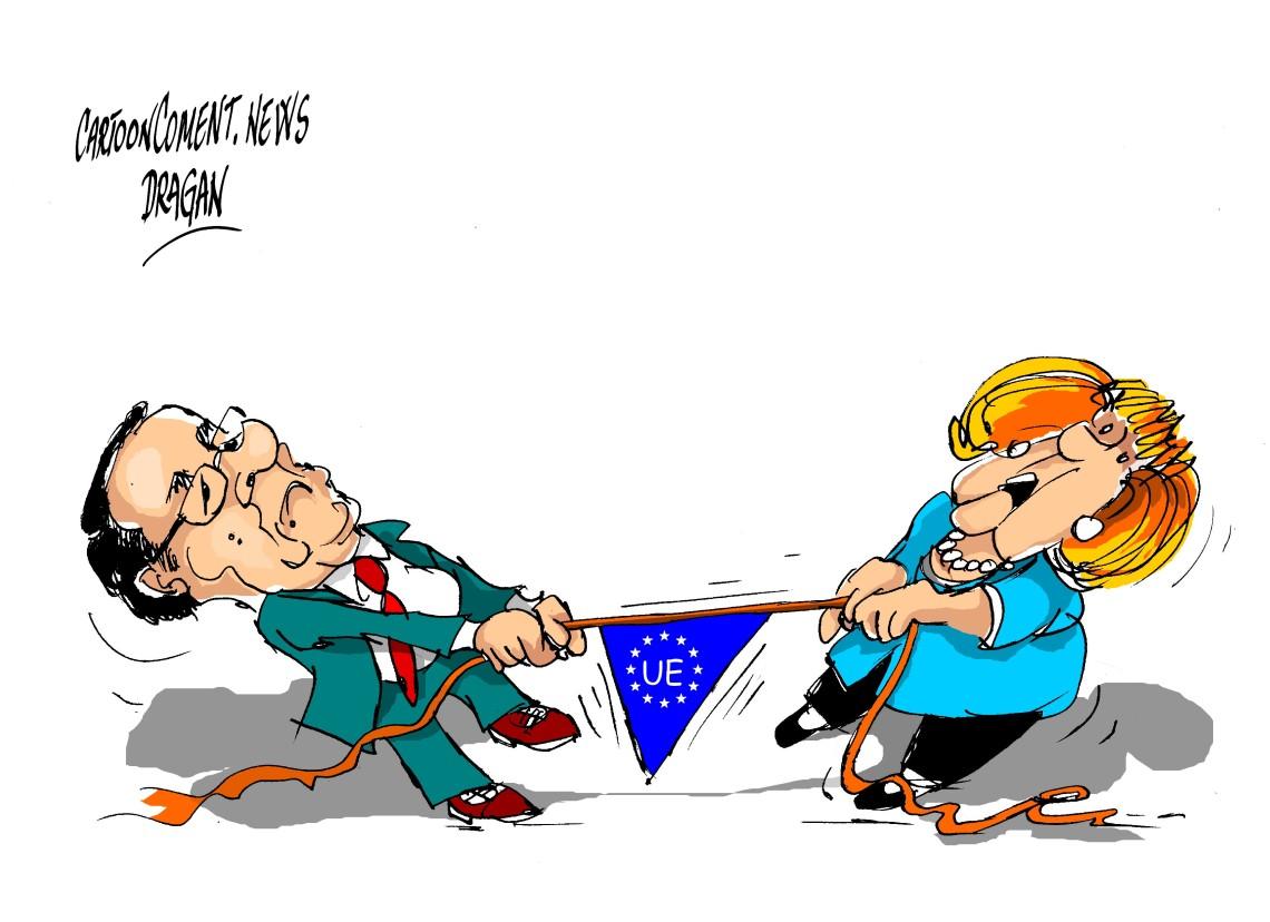 "François Hollande- Angela Merkel-""UE"""