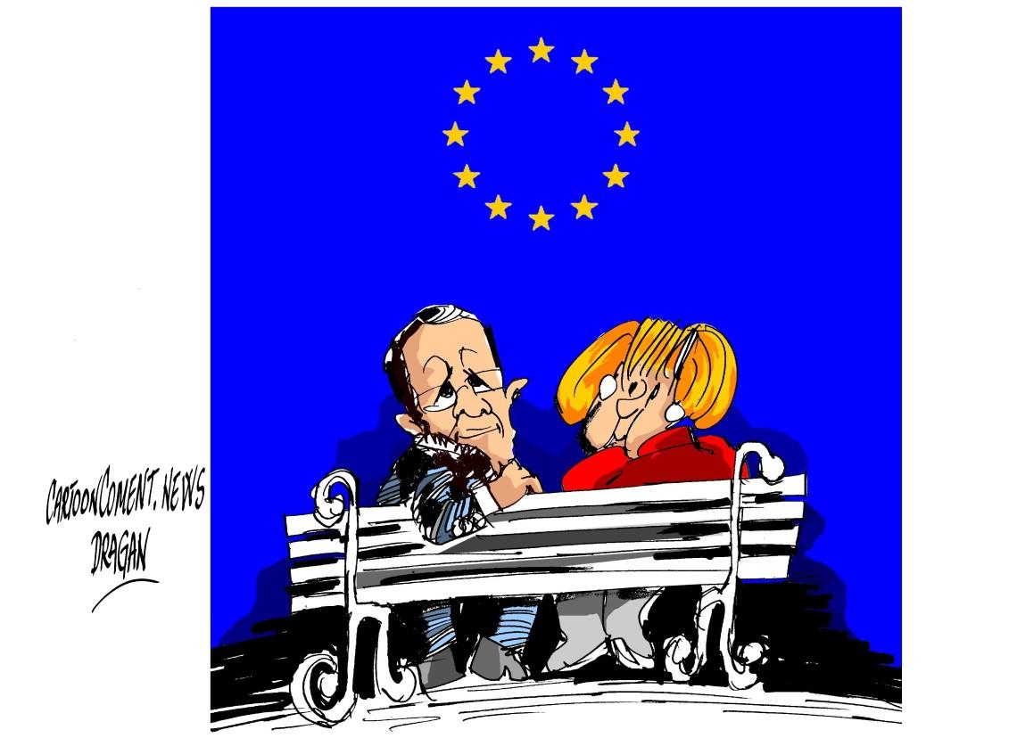 """François Hollande-Angela Merkel-""""luna de miel"""""""