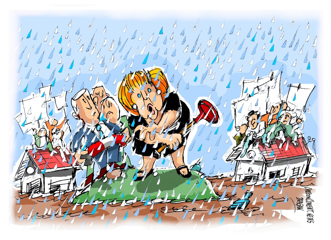 "Angela Merkel-"" inundaciones"""