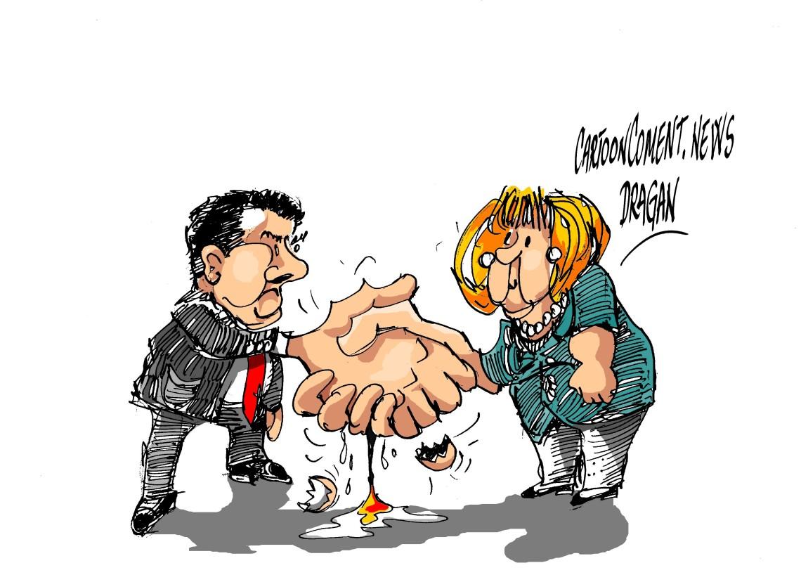 """Sigmar Gabriel Angela Merkel-""""gran coalición"""""""