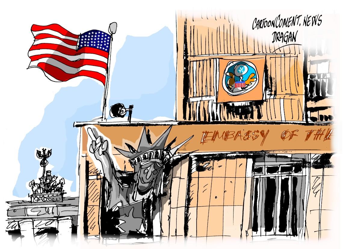 La embajada de EEUU en Berlín