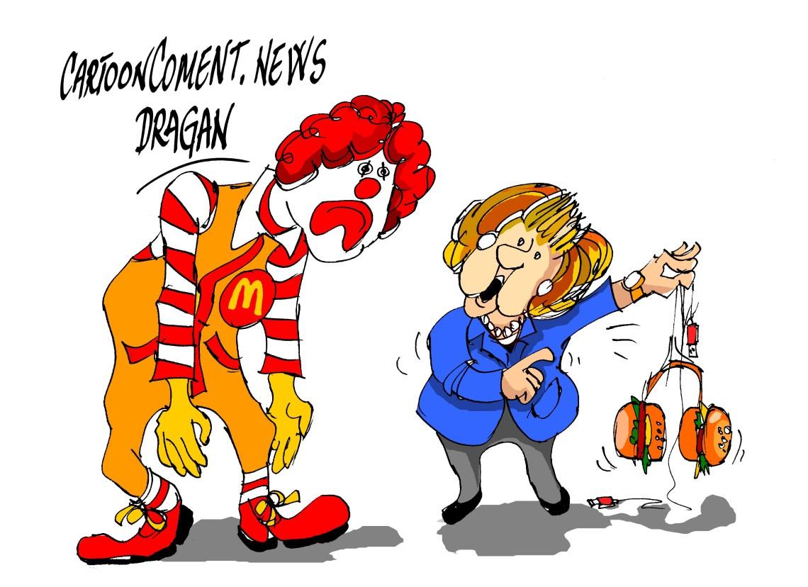 "Angela Merkel-""McDonald""-s"