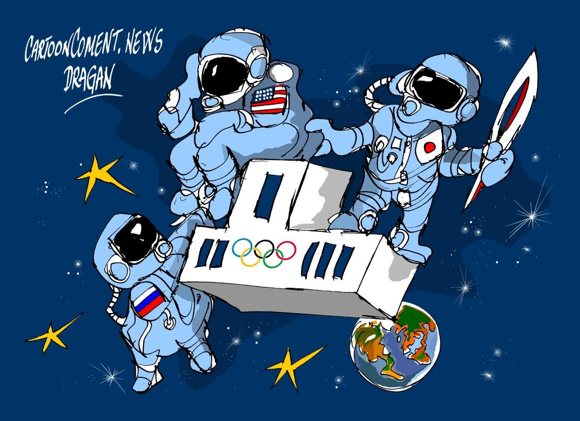 "ISS-""antorcha olímpica """