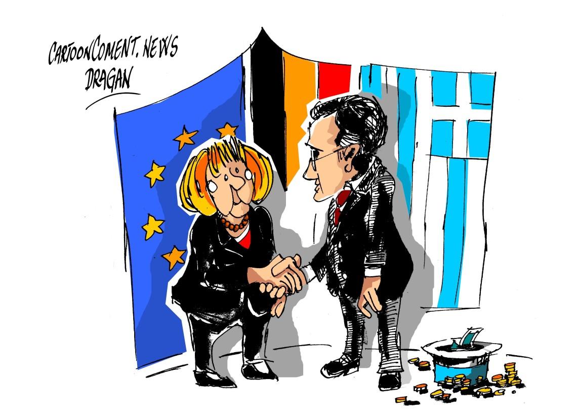 "Angela Merkel-Andonis Samarás-""sombrero"""