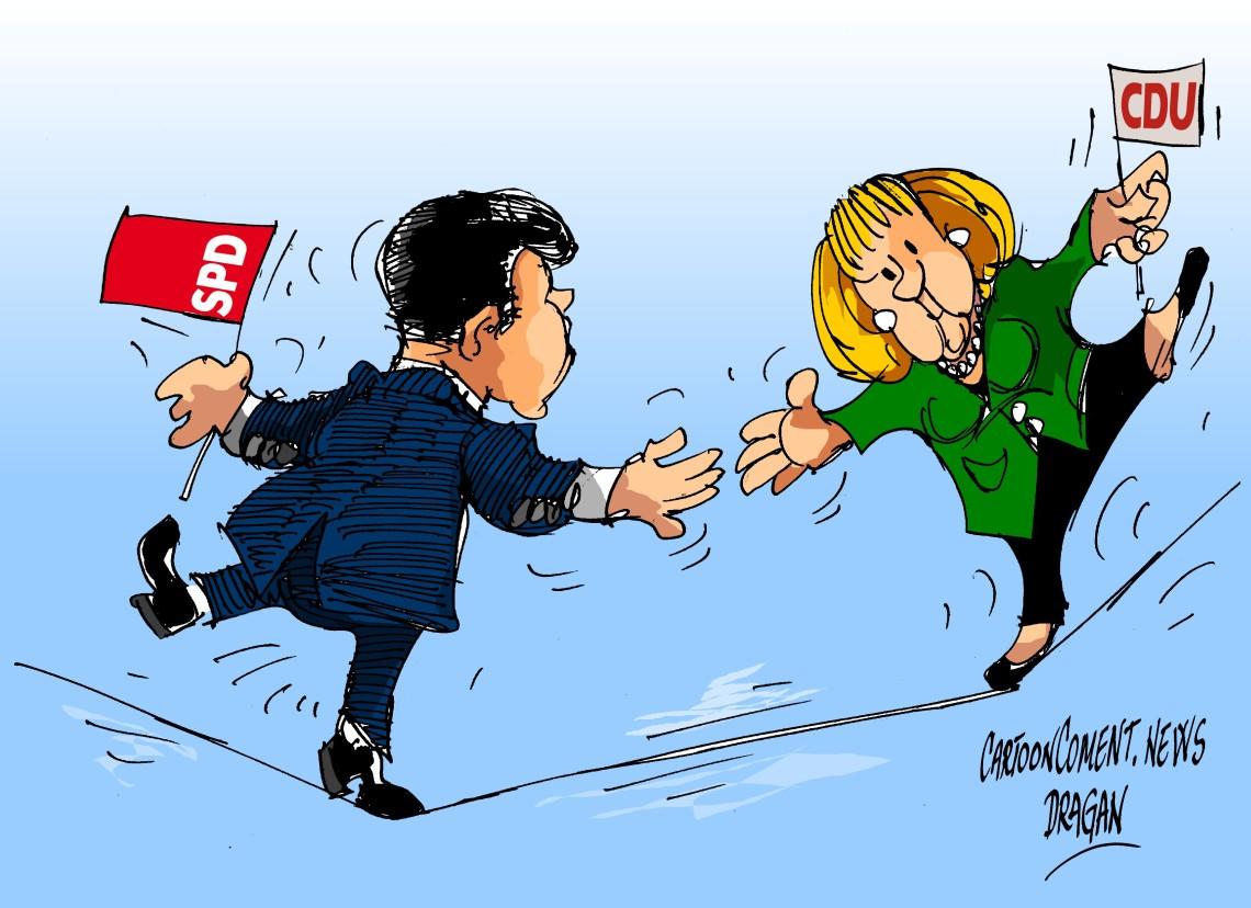 Angela Merkel-SPD