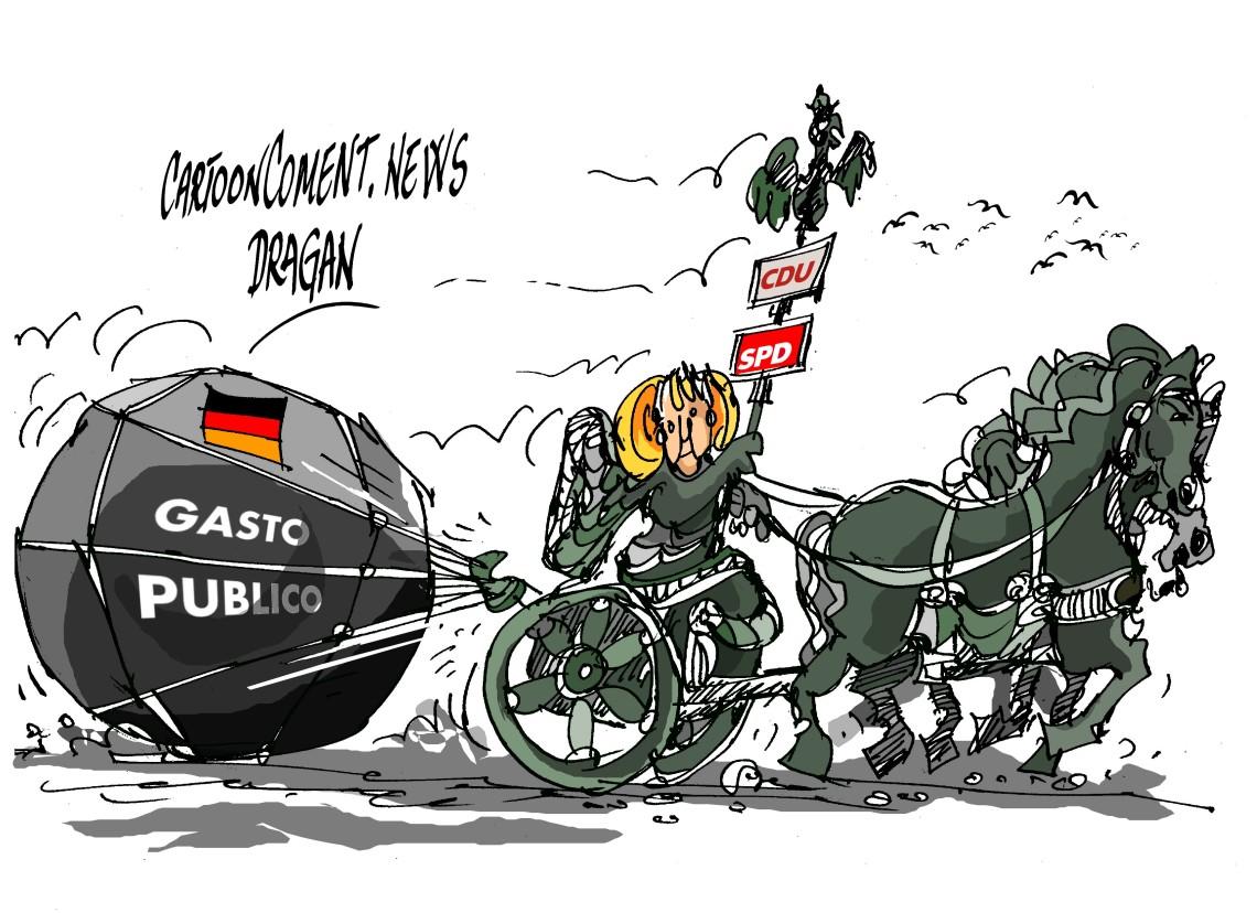 "Angela Merkel-""gasto público"""