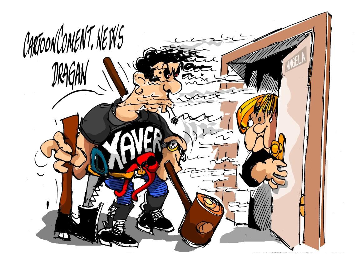 "Angela Merkel- ""Xaver"""