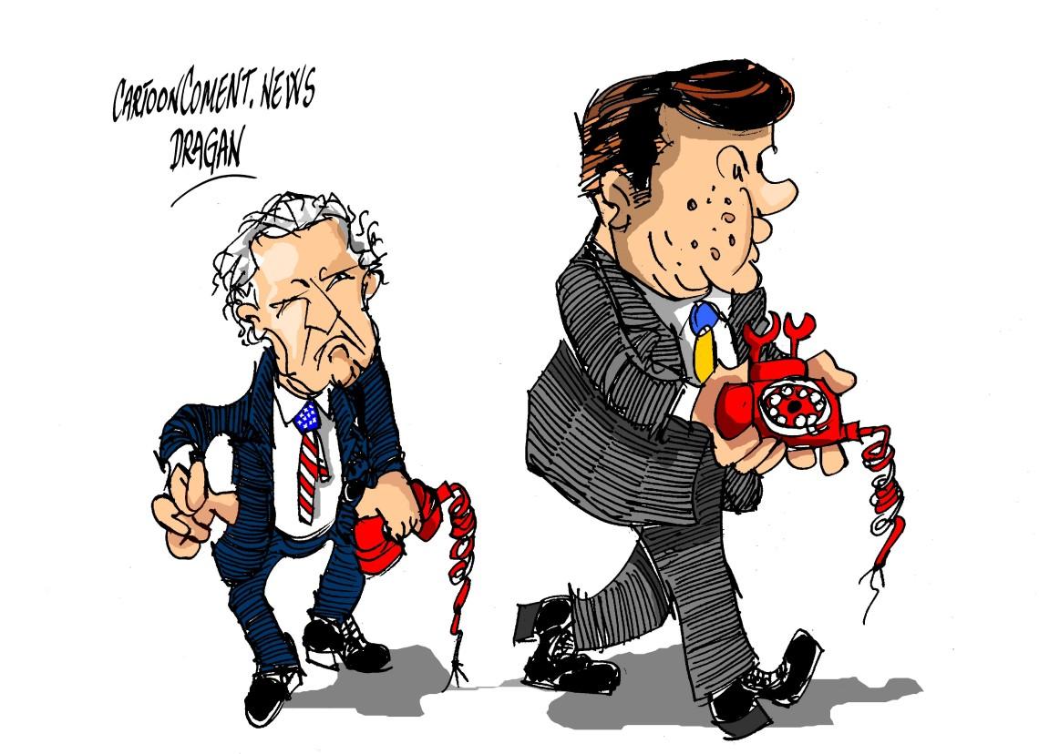"Joe Biden-Víctor Yanukóvich-""telefono"""