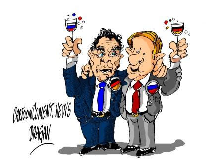 Gerhard Schröder-Vladimir Putin