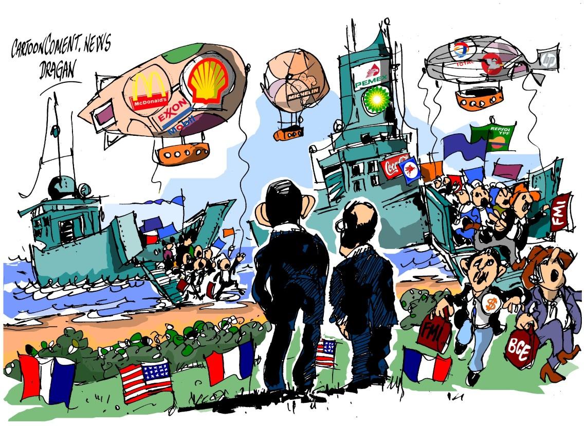 """Barack Obama-Francois Hollande-""""Desembarco"""""""