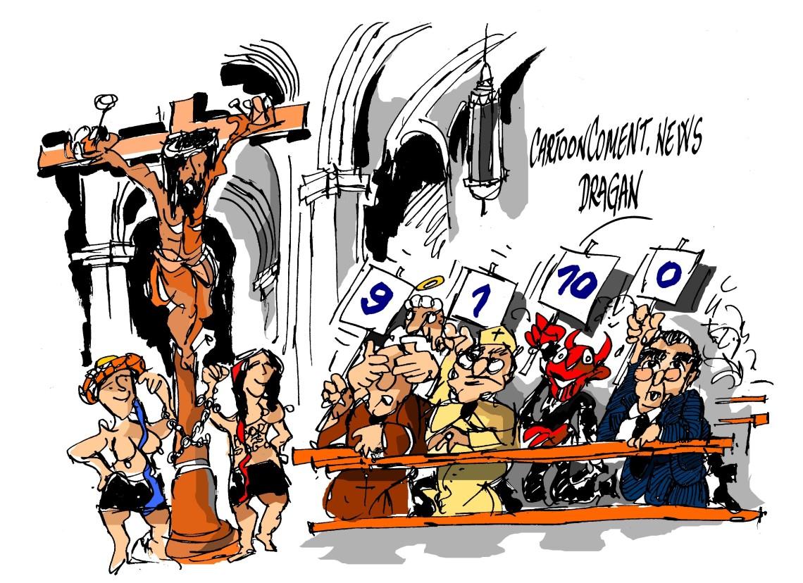 """Femen-""""el aborto es sagrado"""""""