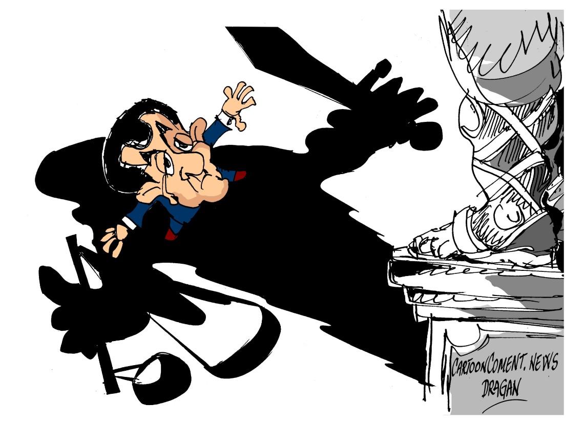 "Nicolas Sarkozy-""sombra"""