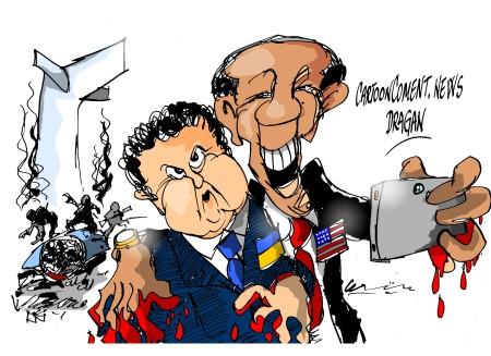 Poroshenko-Obama- 'selfie'
