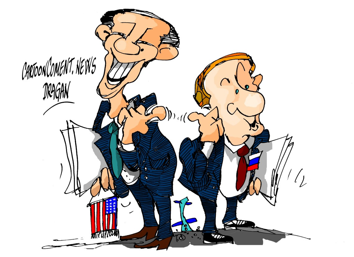 """Barack Obama-Vladimir Putin-""""¿culpable?"""""""