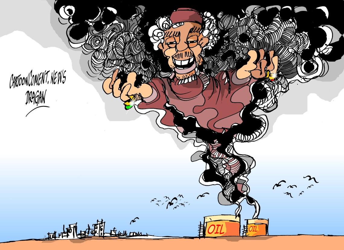 Las llamas en Trípoli