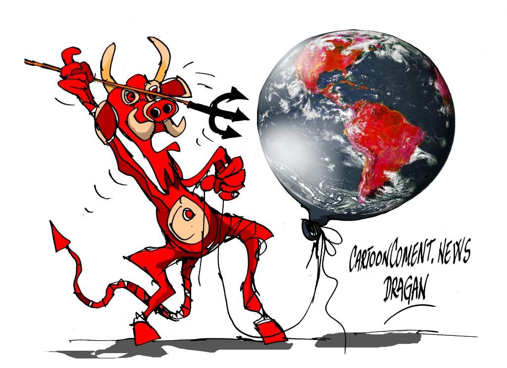 """La Tierra-""""números rojos"""""""