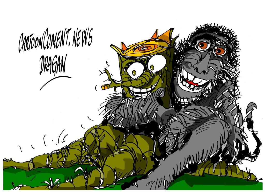 """selfies de un macaco-""""tronco"""""""