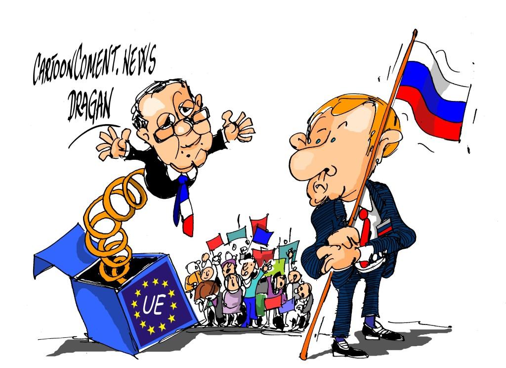 """François Hollande- Vladímir Putin-""""sorpresa"""""""