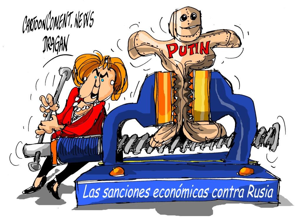 "Angela Merkel-""sanciones"""