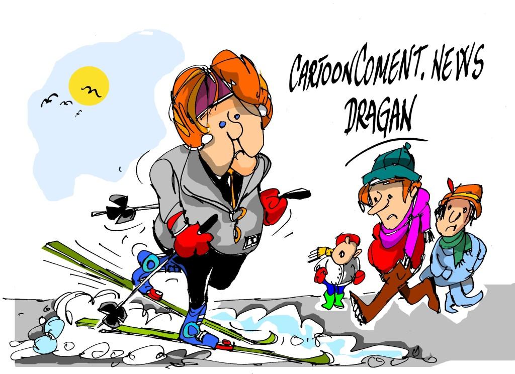 """Angela Merkel-""""esquí de fondo"""""""