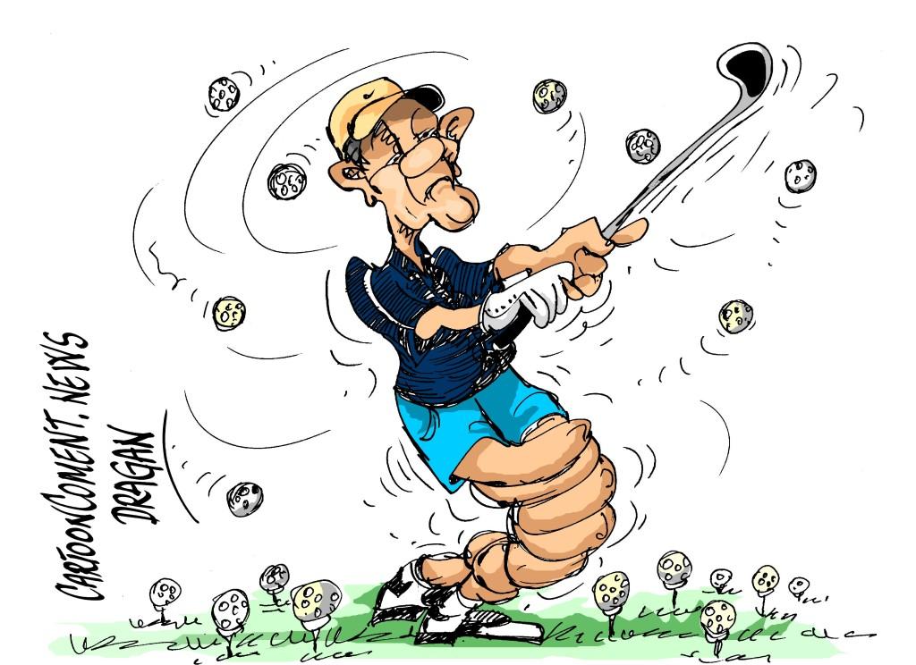 "Barack Obama-""Mucho golf"""