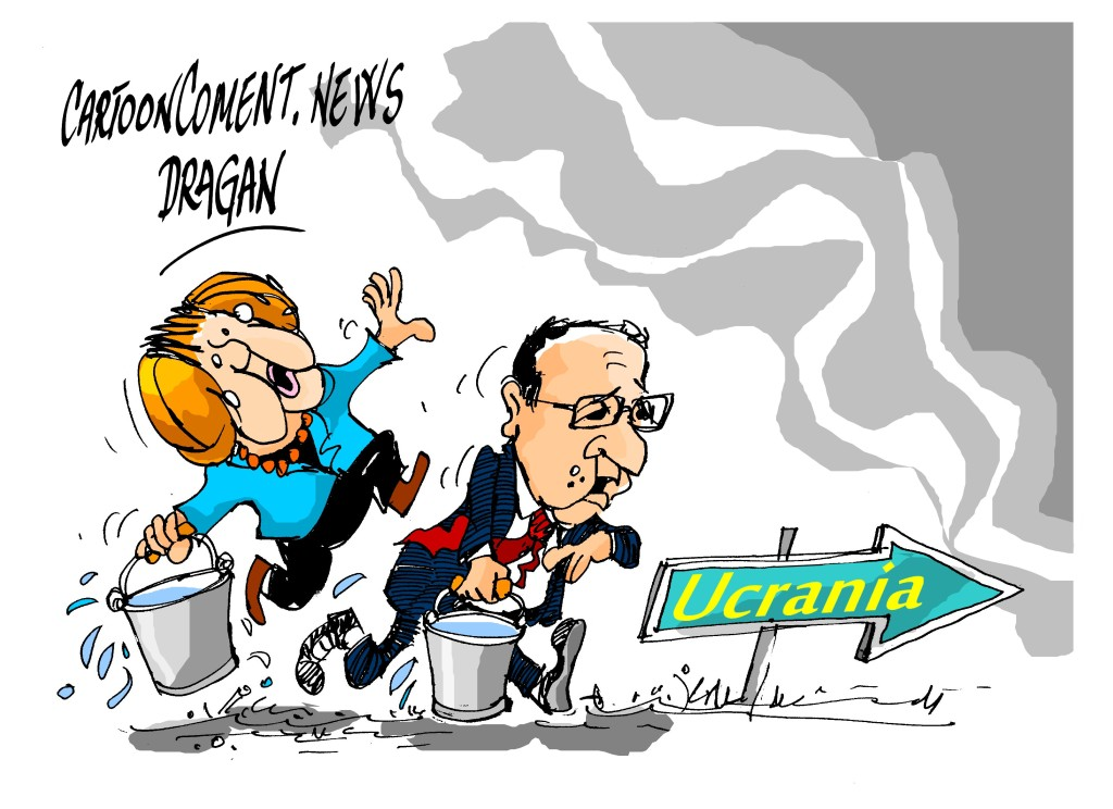 "Angela Merkel-François Hollande-""Ucrania"""