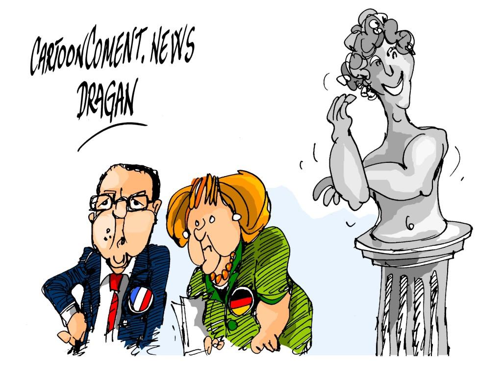 "François Hollande-Angela Merkel-""Afrodita"""