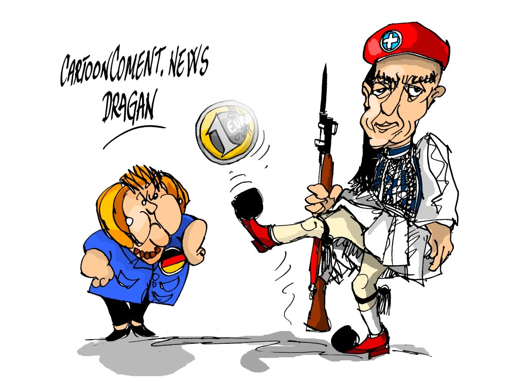 Angela Merkel-Yanis Varoufakis