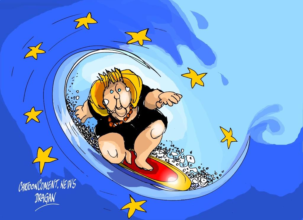 """Angela Merkel-UE-""""surf"""""""