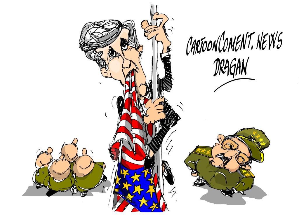 """John Kerry-"""" izando la bandera"""""""