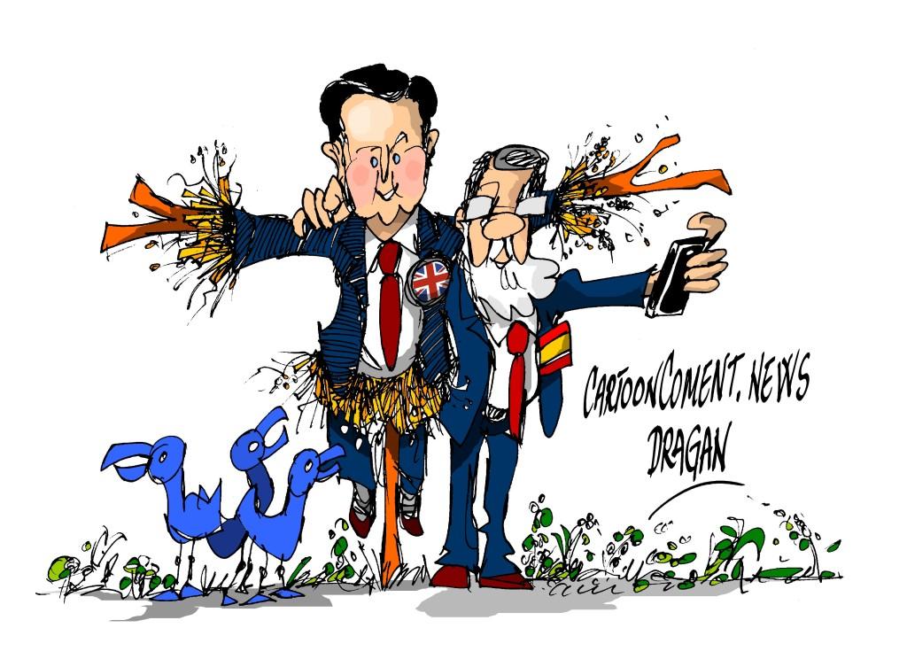 "David Cameron-Mariano Rajoy-""espantapajaro"""